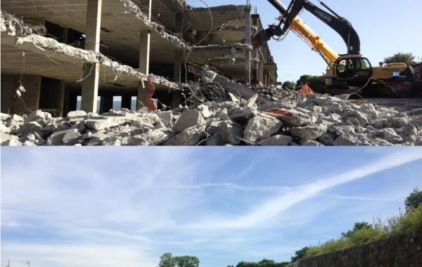 Demolición 74 viviendas en Padrón